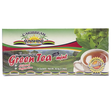 Caribbean Sunshine Green Tea with Mint (24 Bags)