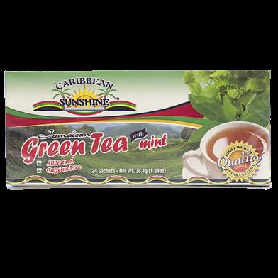 Caribbean Sunshine Green Tea with Mint (24 Bags)