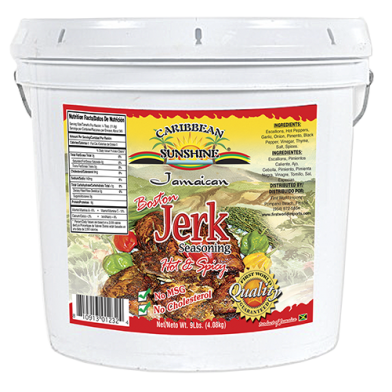 Caribbean Sunshine Boston Hot & Spicy Jerk Seasoning 1 Gallon