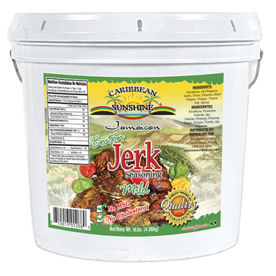 Caribbean Sunshine Boston Jerk Seasoning Mild 1 Gallon