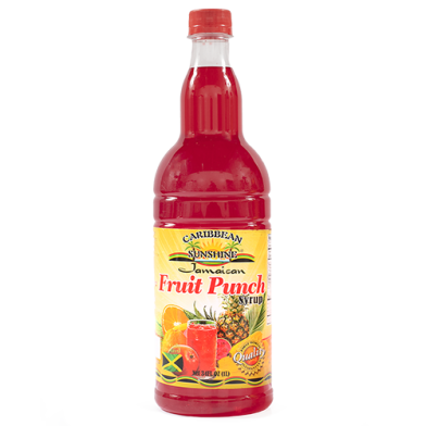 Caribbean Sunshine Fruit Punch Syrup 34oz