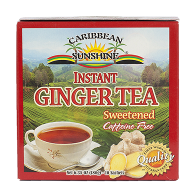 Caribbean Sunshine Instant Ginger Tea Sweetened (10 Sachets)