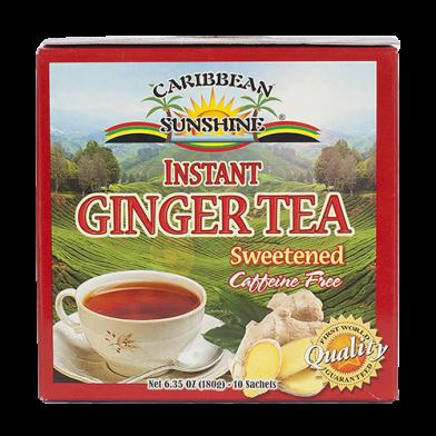 Caribbean Sunshine Instant Ginger Tea Sweetened (10 Sachets)