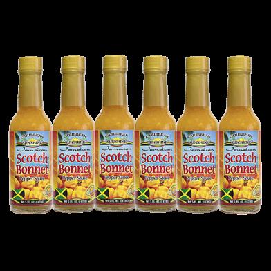 Caribbean Sunshine Scotch Bonnet Pepper Sauce 5oz - Value Pack