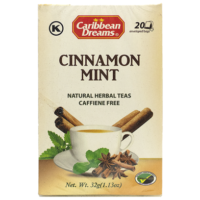 Caribbean Dreams Cinnamon Mint Tea (20 Bags)