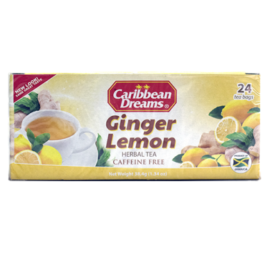 Caribbean Dreams Ginger Lemon Tea (24 Bags)