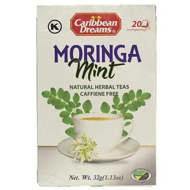 Caribbean Dreams Moringha Mint Tea (20 Sachets)