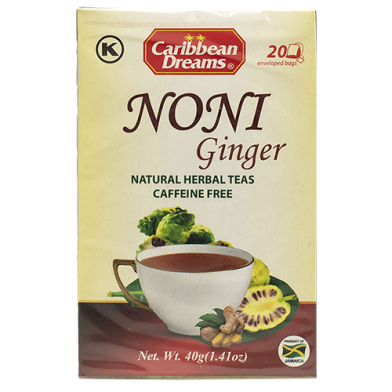Enjoy Caribbean Dreams Noni Ginger Tea (20 Sachets)