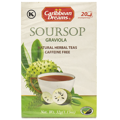 Caribbean Dreams Soursop Tea (20 Bags)