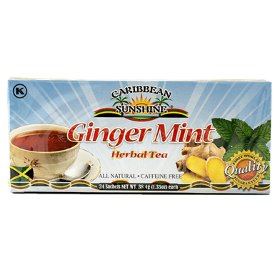 Caribbean Sunshine Ginger Mint Tea (24 Bags)