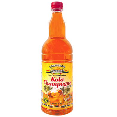 Caribbean Sunshine Kola Champagne Syrup 34oz
