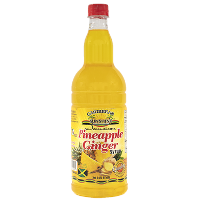 Caribbean Sunshine Pineapple Ginger Syrup 34oz