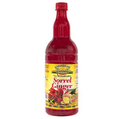 Caribbean Sunshine Sorrel Ginger Syrup 34oz