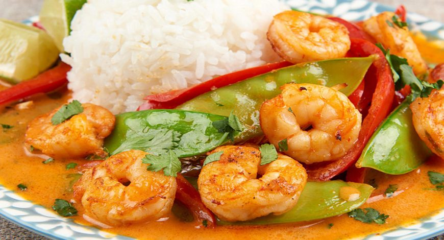 "Caribbean Sunshine ""Coconut Curry"" Shrimp"