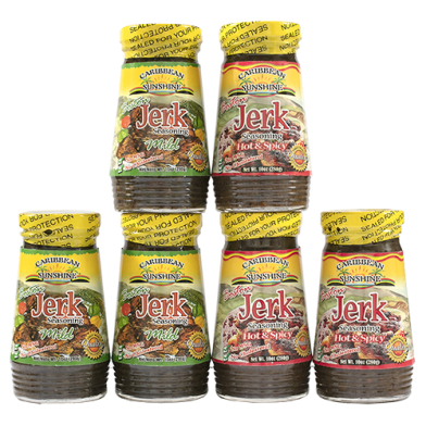 Caribbean Sunshine Boston Jerk Seasoning Variety - Value Pack C (6)