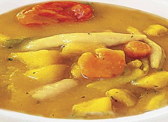 "Caribbean Sunshine ""Chicken Pumpkin Soup"""
