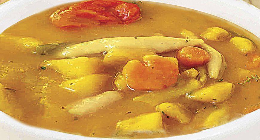 """Caribbean Sunshine """"Chicken Pumpkin Soup"""""""