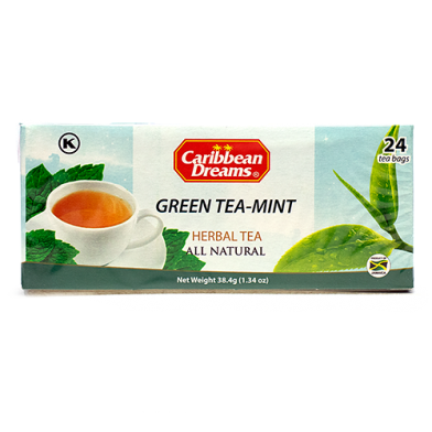 Caribbean Dreams Green Tea with Mint (24 Bags)
