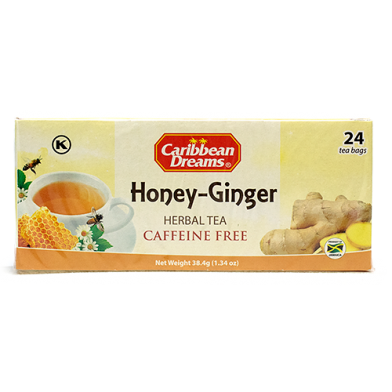 Caribbean Dreams Honey Ginger Tea (24 Bags)