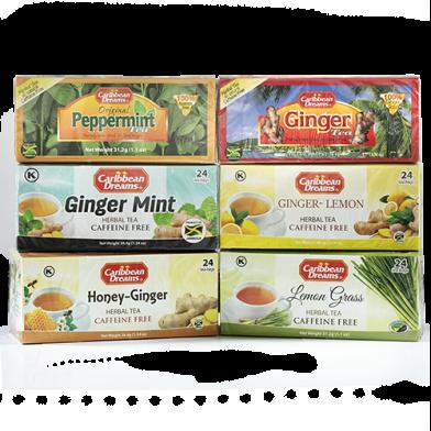 Caribbean Dreams Teas Herbal Variety A - Value Pack