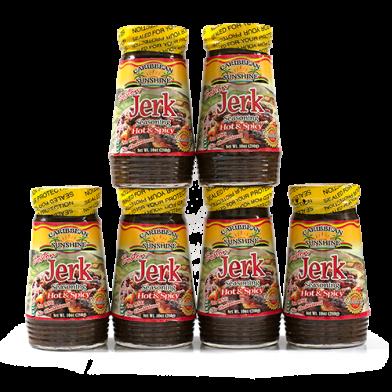 Caribbean Sunshine Boston Jerk Seasoning Hot & Spicy - Value Pack